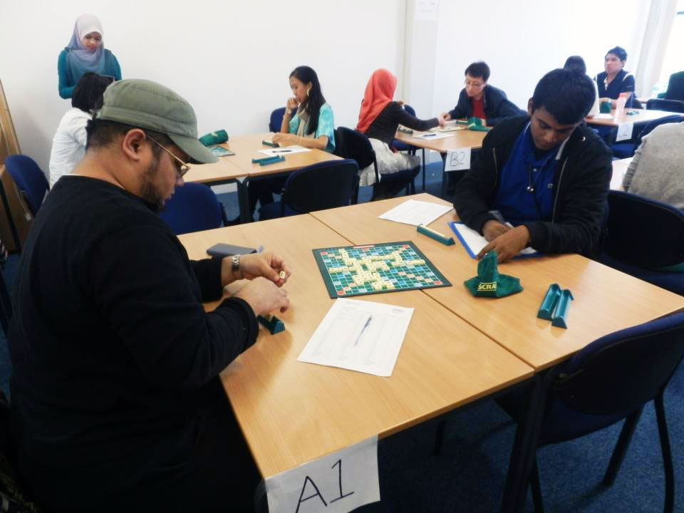 Ramaraj competing in Scrabble 2012