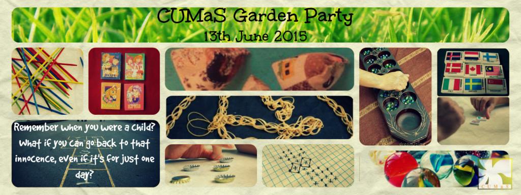 CUMaS Garden Party Promotional banner